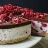 Raw Raspberry and Chocolate Ganache Gluten-Free Cheesecake