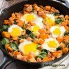 Gluten-Free Sweet Potato Hash With Spinach And Ham Recipe