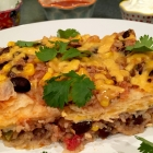 Gluten-Free Black Beans And Rice Mexican Lasagna Recipe