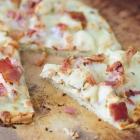 Gluten-Free Chicken Alfredo and Bacon Flatbread Pizza Recipe