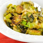 Gluten-Free Brussels Sprouts and Leeks with Lime-Ginger Butter Recipe