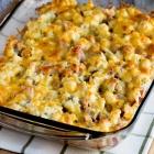 Gluten-Free Ham and Cauliflower Casserole au Gratin Recipe